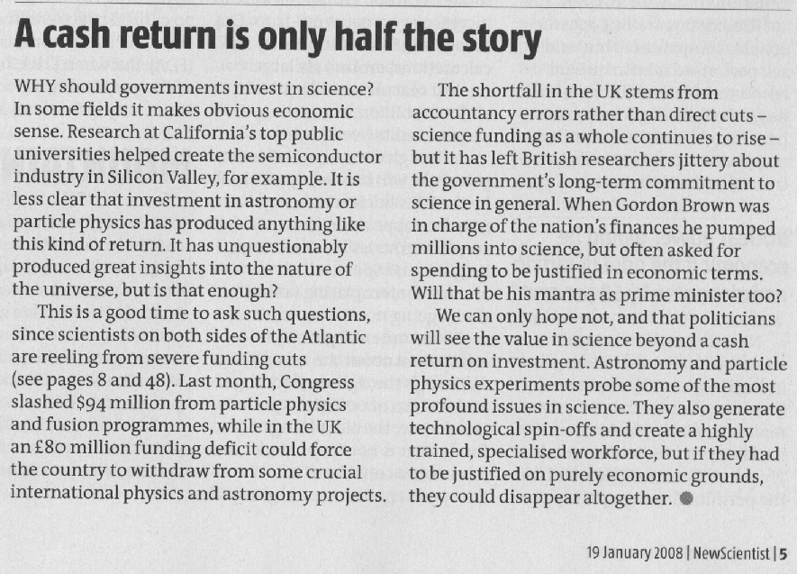 the new scientist editorial from
